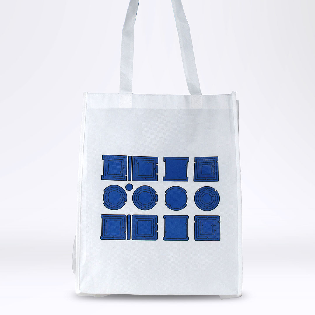 'Property is Theft' Reusable Tote: Blue